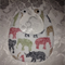 Safari Animal Print Baby Bib