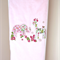Baby Pink Baby Blanket with Pink Elephant and Giraffe