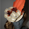 Tangerine Valley..Fascinator Racewear Hat Orange Cream Sculptural Lace NEW & HOT