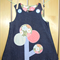 Denim tree pinafore size 3.