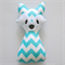Aqua Chevron Fox Rattle