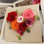 "Preserved Flower arrangement ""HEARTY MOMENT"" LOVE"