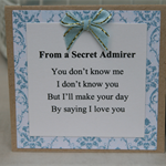 Valentine's Day Card ~ Secret Admirer Gift Card ~ Lover's Card ~ Ready to Post