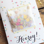 Hooray! - Handmade Confetti Greeting Card