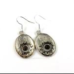 CLOSING DOWN SALE Steampunk vintage gear Sterling silver dangle Earrings