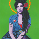 Amy Winehouse - Original limited edition bright pop art print
