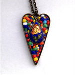 Mothers day gift - mosaic heart pendant