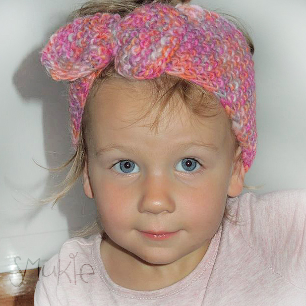 Alpaca Headband Knitting Pattern : Pink knitted headband or collar with bow. Hand knitted. NZ wool + Alpaca Sm...