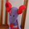 Mindy the house in red & purples: Washable, OOAK, present, baby shower