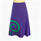 Ladies size M (12 to 14) Retro Purple Stretch A Line Skirt, spiral applique