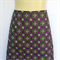 Ladies Retro Purple Geometric Flower Print A Line Skirt - ladies sizes available