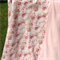 Fairies cuddle blanket, pink fleece and flannel, large toddler girl blanket