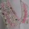 Hand Spun Soft Bulky Art Yarn BFL Merino Silk Scarf Collar Pretty Pink Cream
