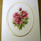 Mothers Day Roses Card - Completed Cross Stitch