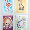 Collection 5 - Children's Art 4x6 inch Digital Prints; Flamingo, Giraffe, Whale