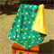 Garden cuddle blanket, large and extra thick fleece/flannel, kids blanket