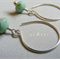 Argentium Sterling Silver range - minty green Czech glass rondelle bead earrings