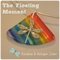 The Fleeting Moment Rainbow Fan Artisan Glass Pendant by Curly Jo