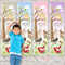 {Timberland Tots} Personalised Fabric Height Chart 30x106cm