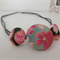 Japanese fabric button Necklace