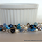 Beaded Hair Barrette – Blue