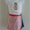 SUPER SALE - Sz 2-3 - Denim wrap skirt with T-shirt