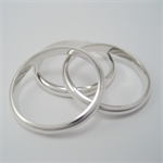 3 Plain stacking rings: