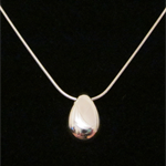 Egg - Handmade Sterling Silver Pendant with Snake Chain