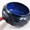 Ceramic Stoneware Bowl Faceted Black & Blue Unique Handmade Pottery  Home Decor