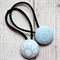 Blue Circle and Spot Hair Ties