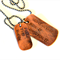 Womens Fitness Inspiration Necklace Dog Tags for Women Exercise 24'' Chain