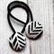 Black Arrow/Geometric Hair Ties