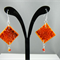 Fire Tile Earrings