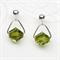 Olivine Swarovski Crystal Stud Earrings