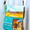 Leather & Vintage Australian Outback Souvenir Linen Handbag