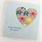 happy birthday card paper heart elephants