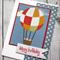 Hot Air Balloon Happy Birthday Card