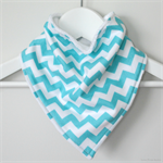 BUY 3 GET 4th FREE Aqua Chevron Bandanna Dribble Bib