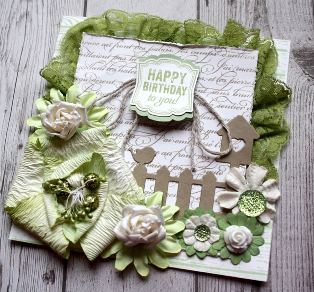Garden Themed Happy Birthday Card Enchanted Creations By Narelle