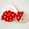 Baby Teether Red and White Polka Dots