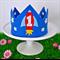 Boy's Blue Rocket Crown – 1st Birthday / Photo Prop