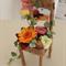 """Preserved Flower Arrangement """" Fleuri Flower chair"""" HAPPY"""