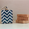 Scrabble Tile Pendant - Blue Chevron