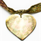 Mother of Pearl Heart Pendant With Matching Earrings