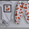 Mr Fox, onesie and harem pants set, size 0000-2, applique
