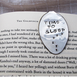 Bookmark made from vintage silver plated spoon