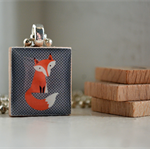 Scrabble Tile Pendant - Fox 1