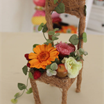 "Preserved Flower Arrangement "" Fleuri Flower chair"" HAPPY"