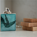 Scrabble Tile Pendant - Fancy Flight