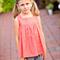 girls blouse - coral dots prairie tunic blouse